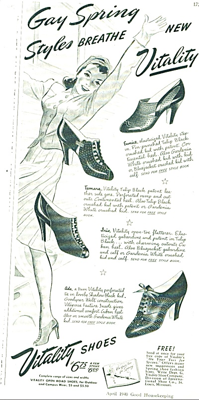 Vitality Shoes Ad 1940