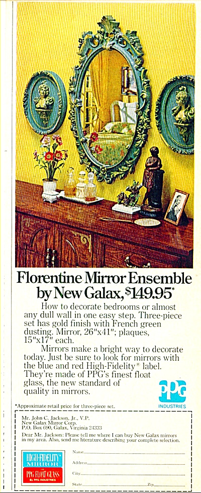 Florentine mirror ensemble by New Galax ad (Image1)