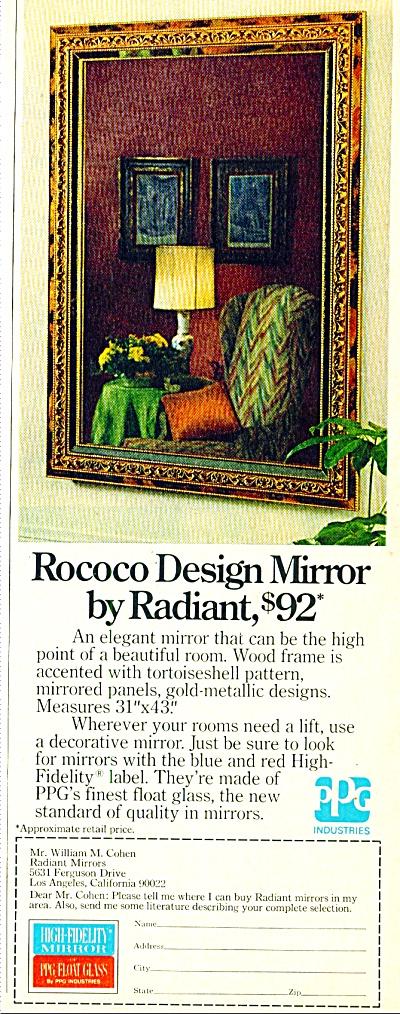 Rococo Design Mirror by Radiant ad 1974 (Image1)