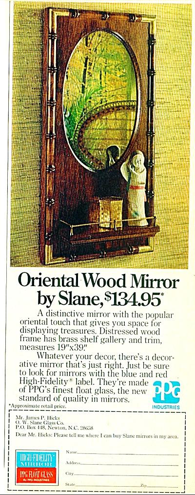 Oriental wood mirror by Slane  ad 1974 (Image1)