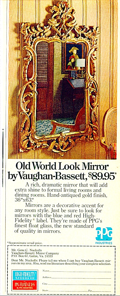 Old World look mirror by Vaughan-Bassett ad (Image1)
