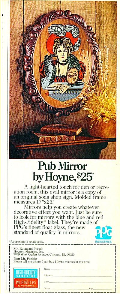 Pub Mirror by Hoyne ad 1974 (Image1)