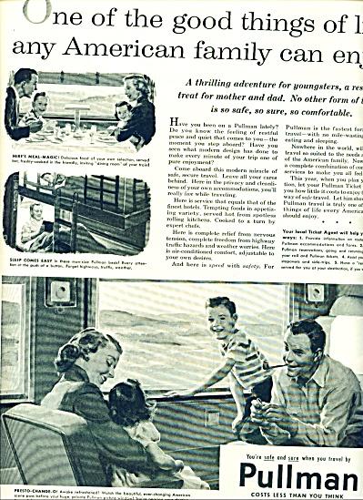 1955 Pullman Train AD Family Traveling ART #2 (Image1)