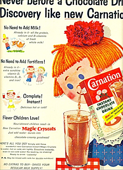 Carnation Instant chocolate flavored drink ad (Image1)