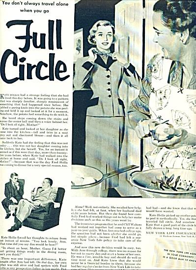 New York Life Insurance AD 1953 KATE HOLLIS (Image1)