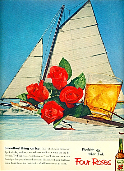 Four Roses Whiskey Ad 1953