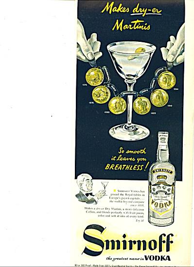 1953 Smirnoff Vodka AD DRY-ER Martini Coins (Image1)