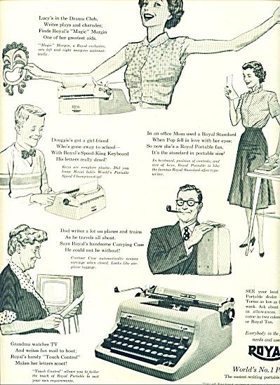 Royal Typewriter - No. 1 Portable ad 1953 (Image1)