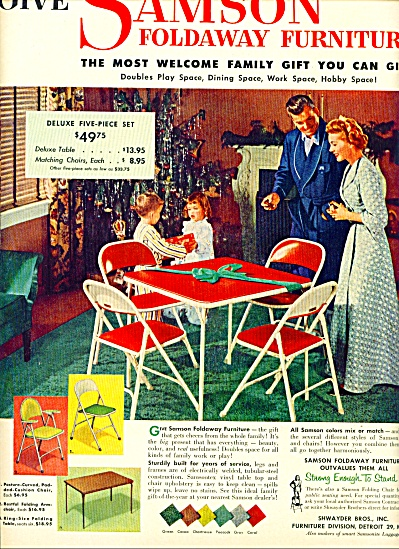 Samson foldaway furniture ad 1952 (Image1)