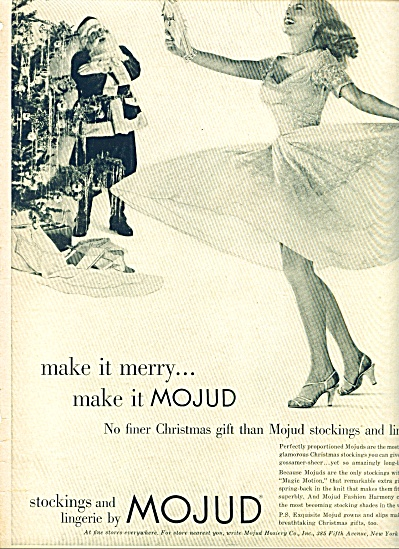 Mojud stockings and lingerie ad 1952 (Image1)