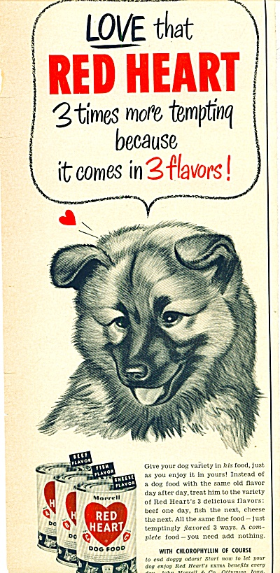 Red Heart dog food ad 1952 (Image1)