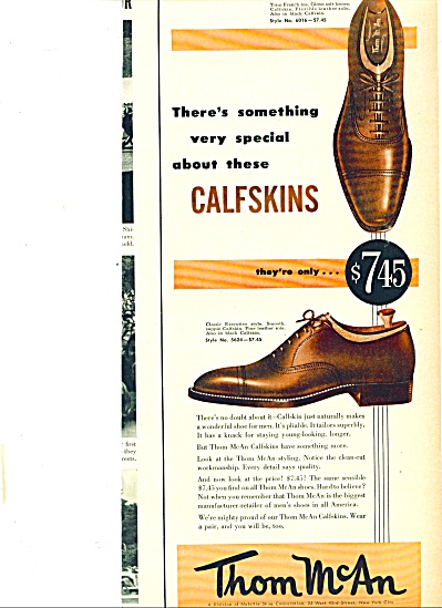 Thom McAn calfskin shoes ad 1952 (Image1)