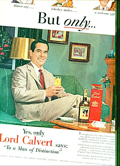 Lord Calvert whiskey ad 1952 (Image1)