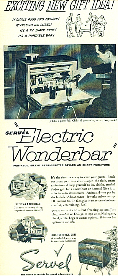 1952 Servel Electric Wonderbar AD (Image1)
