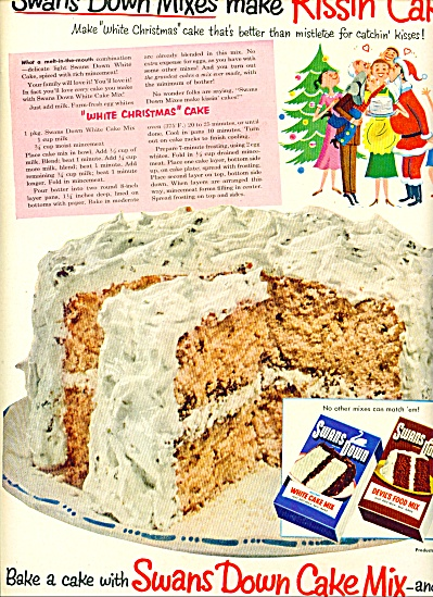 Swans Down Cake Mix Ad 1952