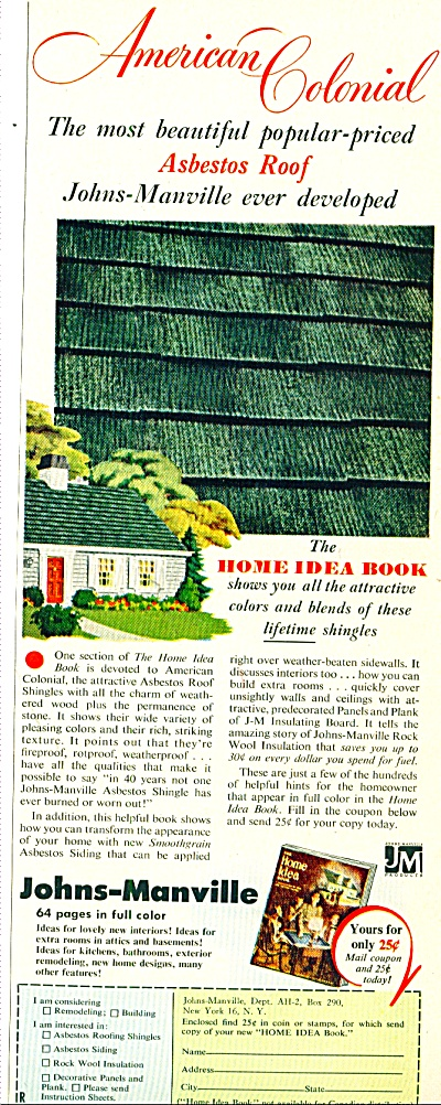 Johns-Manville - Asbestos roof ad 1952 (Image1)