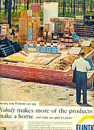 Flintkote building products ad ASBESTOS (Image1)