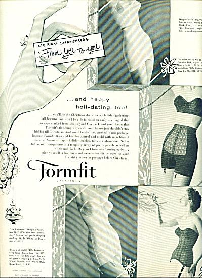 1950 Formfit  Creations BRA - GIRDLE AD Pics (Image1)