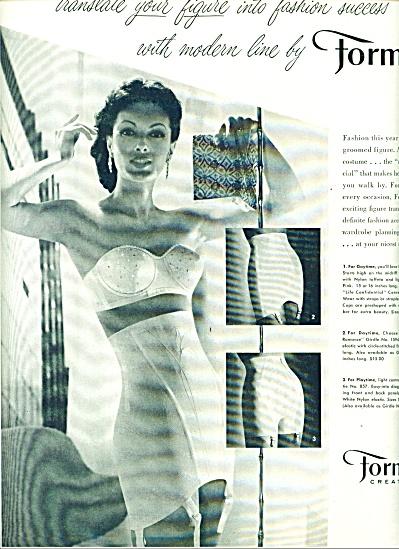 1956 Formfit Bra Girdle AD STUNNING WOMAN (Image1)