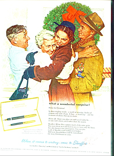 Sheaffer's Pens Ad 1955 - Norman Rockwell