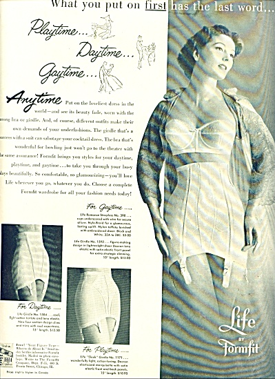1955 Life By Formfit Bra - Girdle Ad