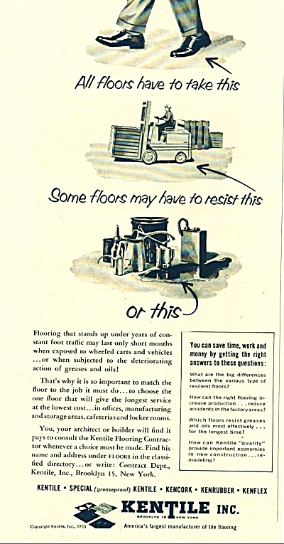 Kentile Inc. ad 1953 (Image1)