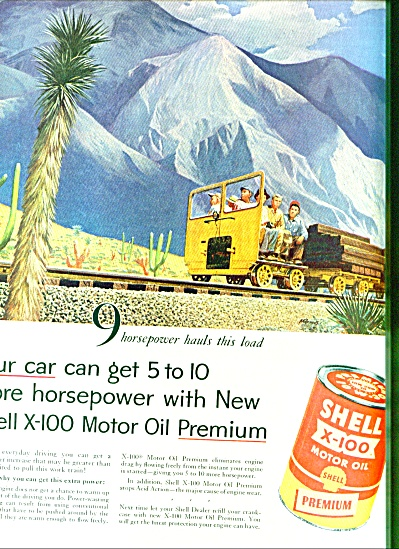 1959 Shell Motor OIL AD M. R--MIUS ART (Image1)