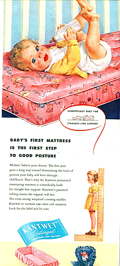 1947 Kantwet  Crib Mattress AD BABY ART (Image1)