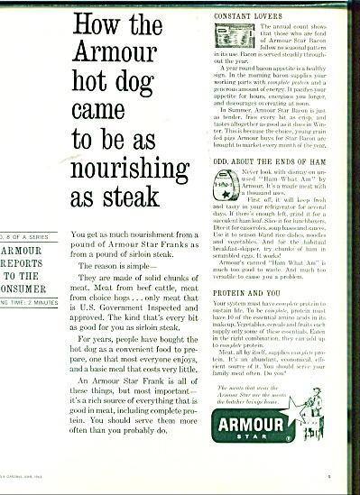 Armour star hot dogs ad 1963 (Image1)