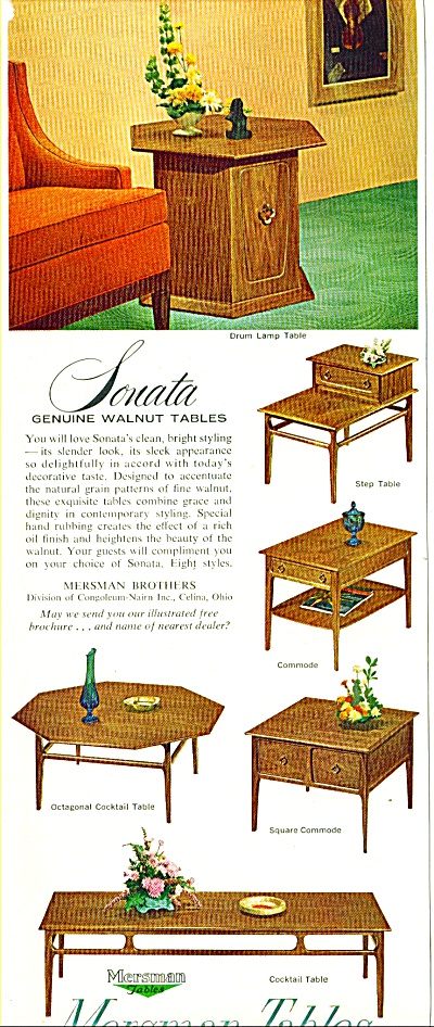 Mersman Tables Ad 1963