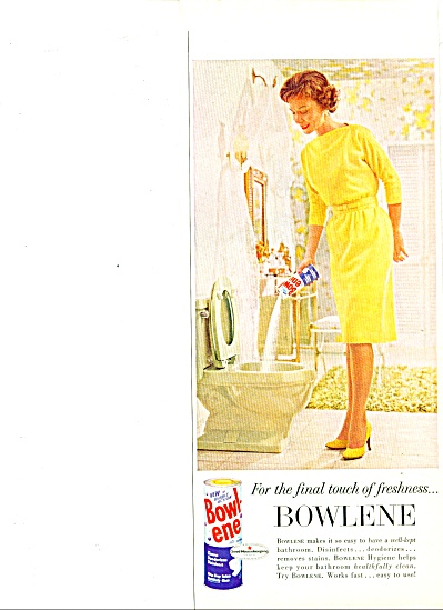 Bowlene toilet bowl cleaner ad 1963 (Image1)