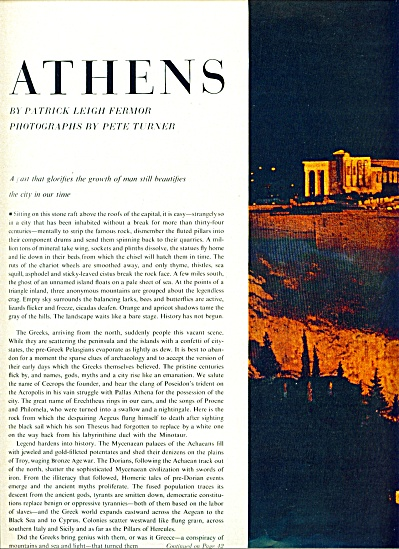 Athens Greece  story by Patrick Leigh Fermor (Image1)