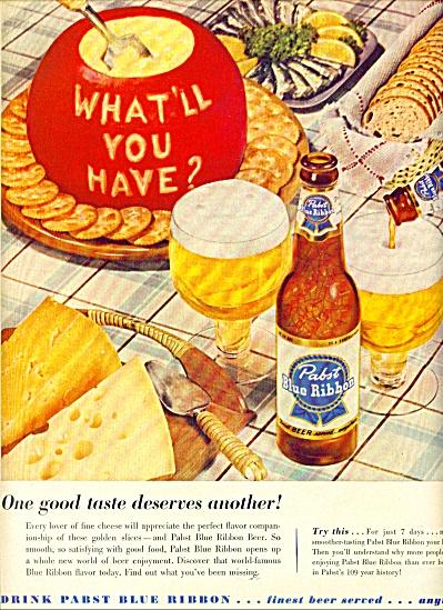 Pabst blue ribbon beer ad (Image1)