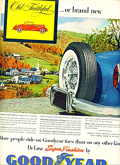 Goodyear deluxe super cushion tires ad 1953 (Image1)