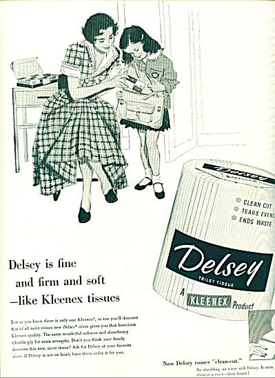 Delsey toilet tissue - Kleenex ad 1953 (Image1)