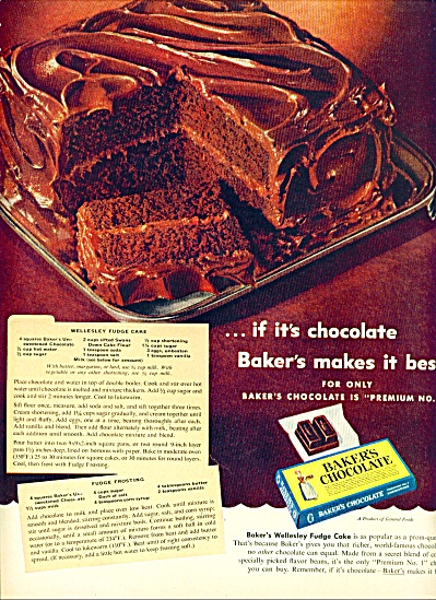 Baker's chocolate ad 1953 (Image1)