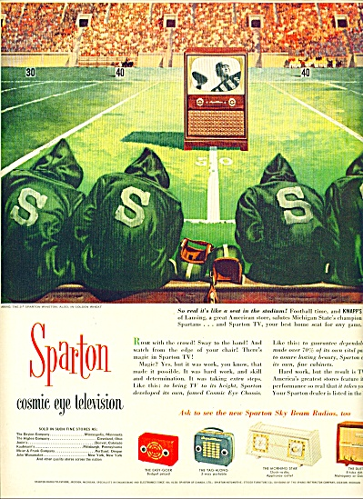 Sparton cosmic eye television ad 1953 (Image1)