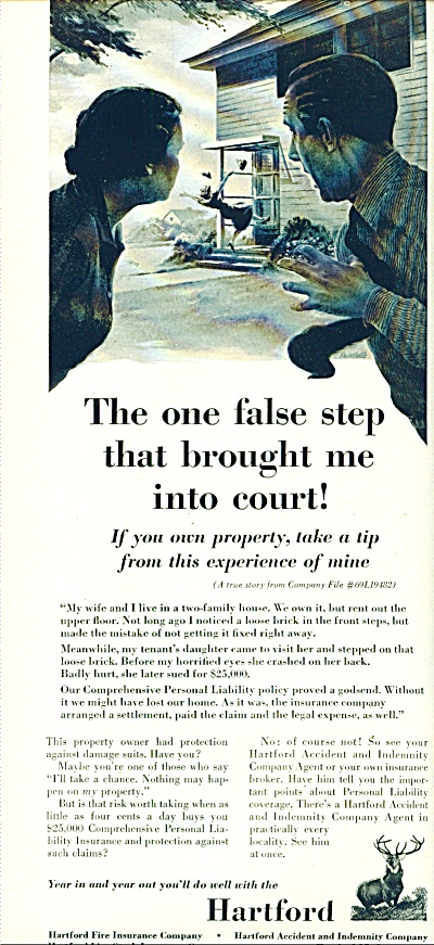 1963 Hartford fire insurance Co AD ONE FALSE (Image1)