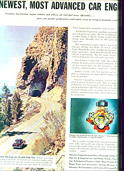 Chrysler Corporation - Advanced V8 ad 1953 (Image1)