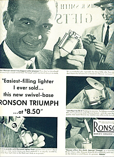 Ronson world's greatest lighter ad 1953 (Image1)