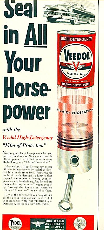 Veedol motor oil ad 1953 (Image1)