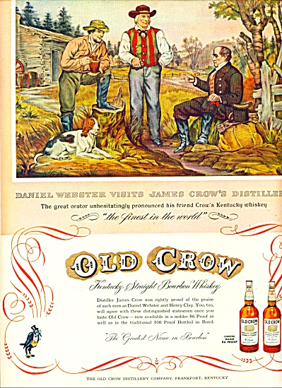 Old Crow bourbon whiskey ad 1953 (Image1)