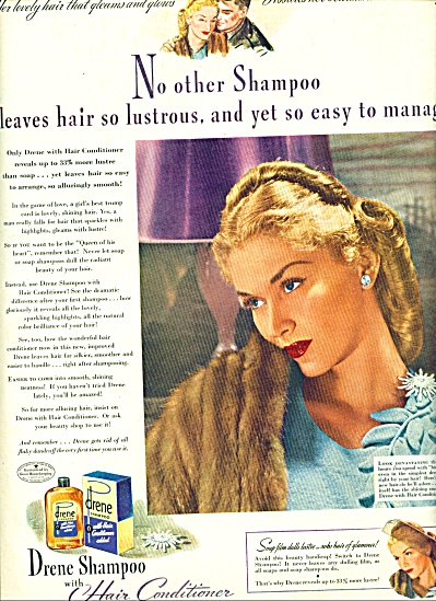 1944 DRENE Shampoo AD Beautiful Blonde (Image1)