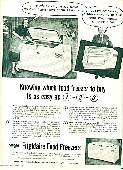 Frigidaire food freezers ad 1952 (Image1)