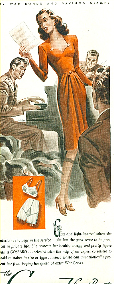 1944 Gossard Beauty Artwork Gay - Light Ad