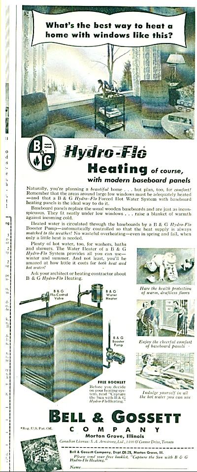 Bell & Gossett - Hydro flu heating ad 1952 (Image1)