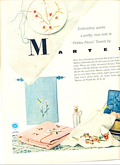 Martex Towels Ad Embroidered Petite Fleur