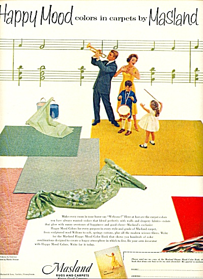 Masland rugs and carpets ad MUSIC HAPPY (Image1)