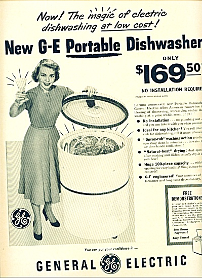 G - E Portable dishwasher ad 1950 (Image1)