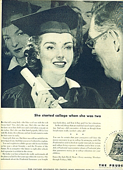 1950 Prudential Insurance AD COLLEGE GRADUATE (Image1)